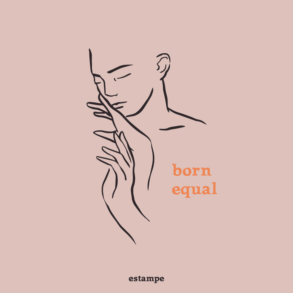 Illustration Born Equal de la designer graphique
